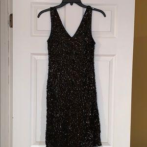 Dresses & Skirts - Black sequins stretch dress